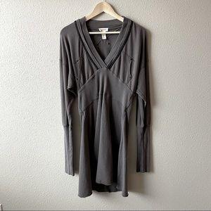 Diesel Grey French Terry Dolman Sleeve Dress XL